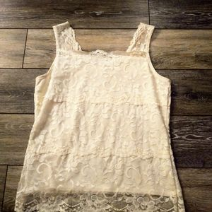 Chadwick's ivory lace tiered top